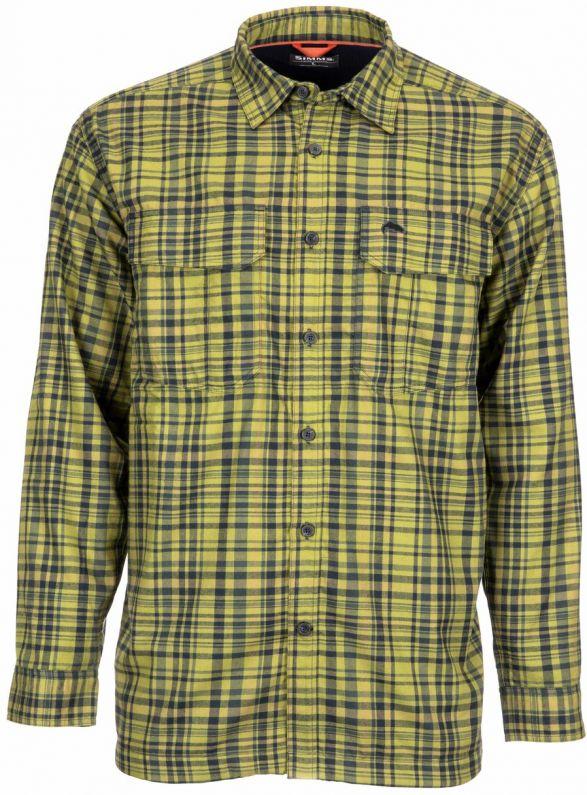 Simms Coldweather LS shirt Rich Blue Plaid Sz Large